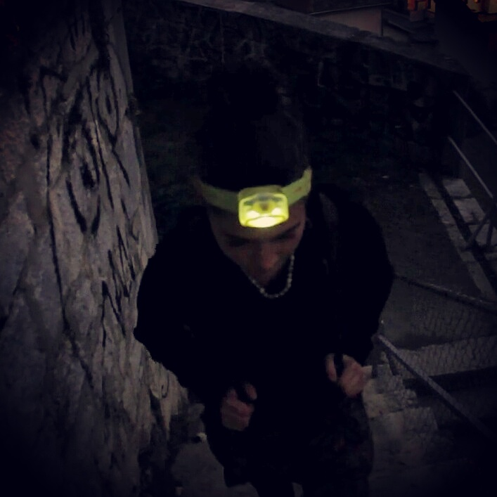 Headlamps are handy after dark.