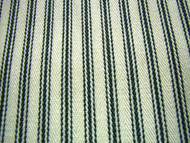 COTTON TICKING STRIPE FABRIC BLACK CREAM  PER METRE