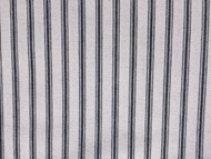 BLACK WHITE HERRINGBONE STRIPE COTTON TICKING STRIPE FABRIC P/MTR