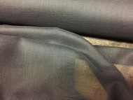 FLAME RETARDANT BLACK COTTON MUSLIN FABRIC P/MTR