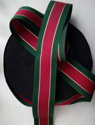 LUXURY TRADITIONAL RED GOLD GREEN CHRISTMAS RIBBON 5 CM WIDE X 5MTRS