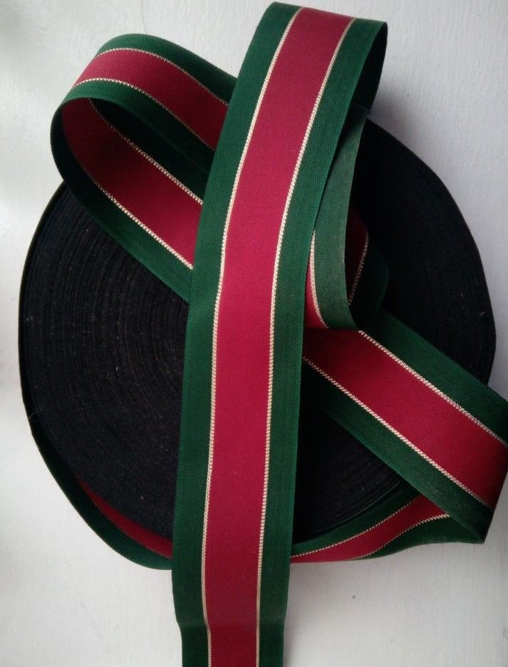Christmas Ribbon.Luxury Traditional Red Gold Green Christmas Ribbon 5 Cm Wide X 10mtrs