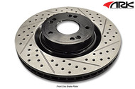 ARK Slotted and Drilled Brake Rotors FRONT (Std Calipers) Genesis Coupe 2010+