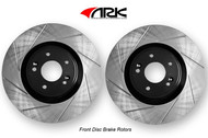ARK Slotted Brake Rotors FRONT (Brembo Calipers) Genesis Coupe 2010+