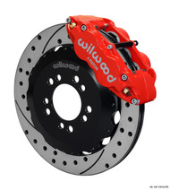 Wilwood Big Brake Kit Forged Narrow Superlite 6 Piston 14.0in Slotted/Drilled FRONT RED Ford Focus ST 2013-2018