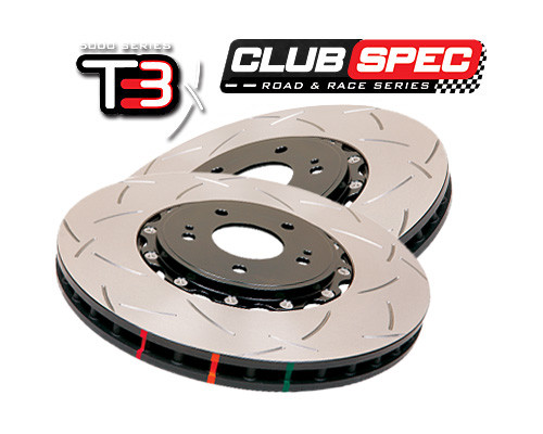 DBA Club Spec 5000 Series T3 Slotted Brake Rotor FRONT BMW