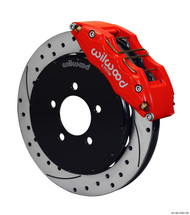 Wilwood Dynapro 6 Big Brake Kit FRONT Red w/ Slotted and Drilled Rotors Mazda 3 2004-2013 / Mazdaspeed 3 2007-2013