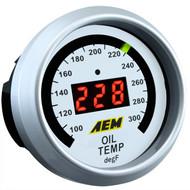 AEM Oil Temperature Gauge 100-300F Digital