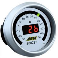 AEM Boost Pressure Gauge Digital 50psi