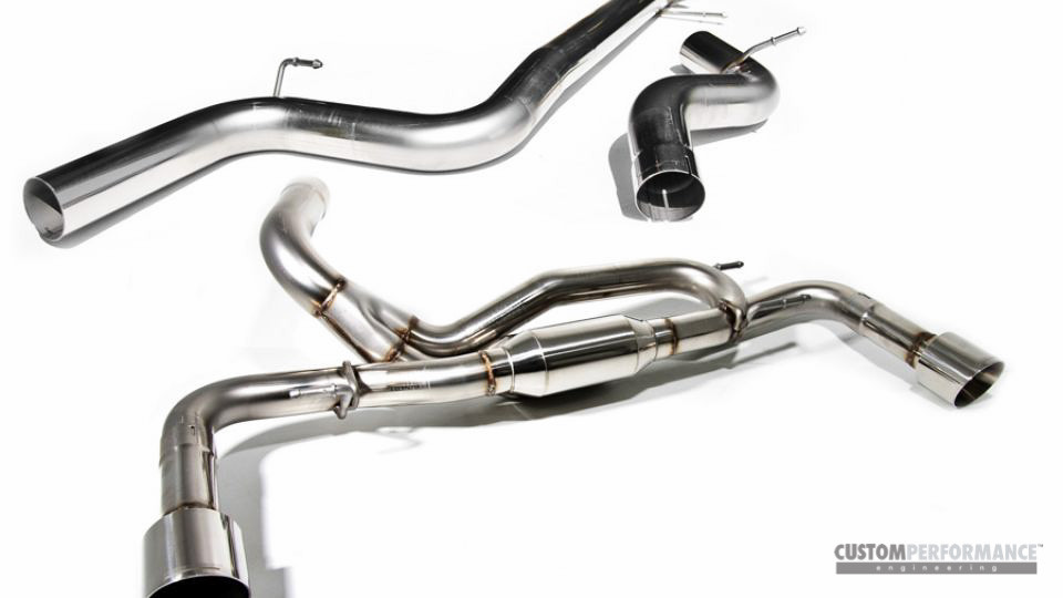 cp-e Triton Catback Exhaust DUAL BLACK TIPS Mazdaspeed 3