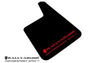 Rally Armor MSpec Mud Flaps Urethane BLACK w/ RED LOGO UNIVERSAL
