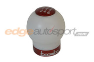 Boomba Racing White Delrin Shift Knob RED TRIM Ford Focus RS 2016+