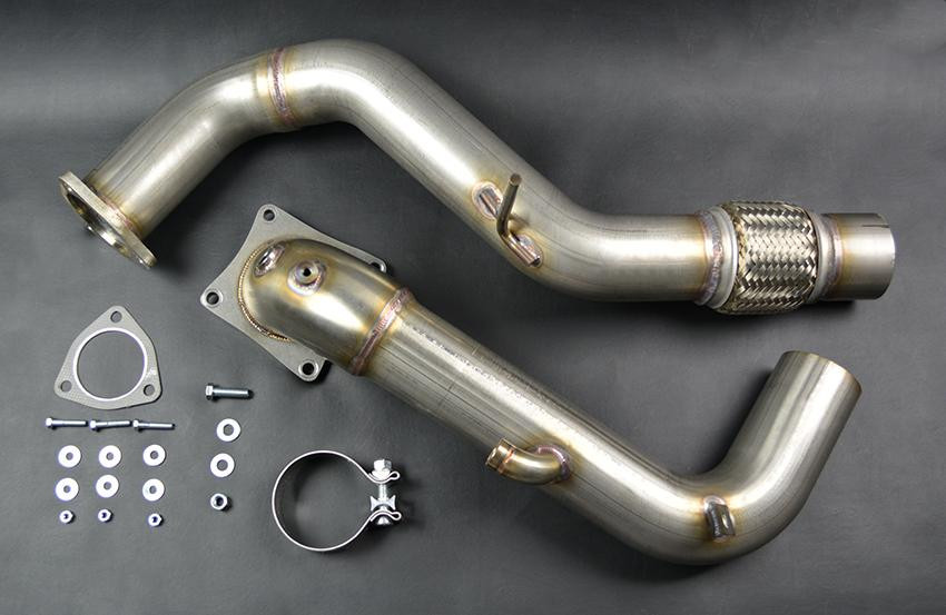 ultimate racing downpipe honda civic type    edgeautosportcom