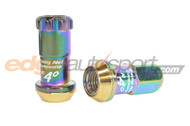 Project Kics R40 Open End Lug Nuts w/ Locking Set NEOCHROME 12x1.5