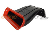 Velossa Tech Ram Air Big Mouth Intake BLACK w/ RED FLARE Ford Focus RS 2016-2018