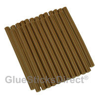 "GlueSticksDirect® Brown Hair Fusion Glue Sticks Mini X 4"" 24 Sticks"