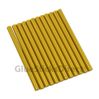 "Gold Metallic Colored Glue Stick mini X 4"" 12 sticks"