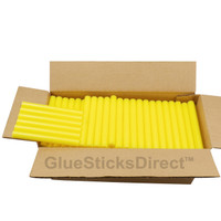 "Yellow Colored Glue Sticks 7/16"" X 4"" 5 lbs"