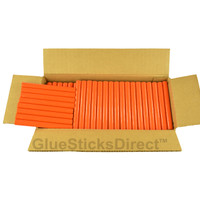 "Orange Colored Glue Sticks 7/16"" X 4"" 5 lbs"