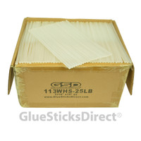 "Wholesale® Hot n Cool Melt Glue Sticks Mini X 10"" 25 lbs"