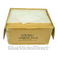 "Wholesale® Cool Melt Glue Sticks 7/16"" X 4"" 25 lbs bulk"