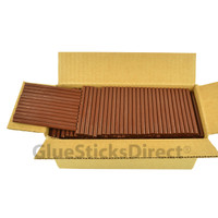 "Brown Milk Chocolate Colored Glue Stick mini X 4"" 5 lbs"