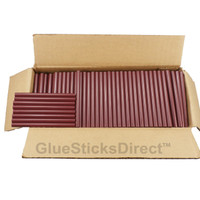 "Burgundy Colored Glue Stick mini X 4"" 5 lbs"