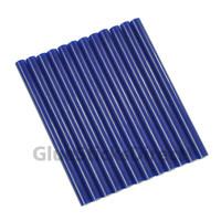 "Dark Blue Faux Wax Colored Glue Sticks mini X 4"" 24 sticks"