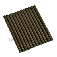 "Brown Dark Chocolate Faux Wax Colored Glue Sticks mini X 4"" 12 sticks"