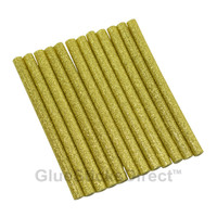"Gold Glitter Faux Wax Glue Sticks mini X 4"" 12 sticks"