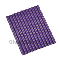 "Purple Faux Wax Colored Glue Sticks mini X 4"" 12 sticks"