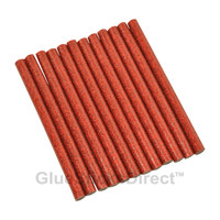 "Red Glitter Faux Wax Glue Sticks mini X 4"" 12 sticks"