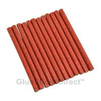 """Red Glitter Faux Wax Glue Sticks mini X 4"""" 24 sticks"""
