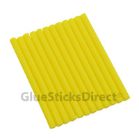 "Yellow Faux Wax Colored Glue Sticks mini X 4"" 12 sticks"