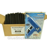 "20 lbs Black PDR 7/16"" x 10"" Glue Sticks & GSDHE-750 80W HT Glue Gun"
