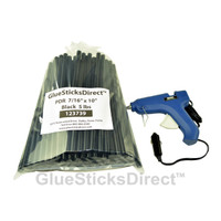 "5 lbs Black PDR 7/16"" x 10"" Glue Sticks & GSDH-270 12Volt 40W HT Glue Gun"