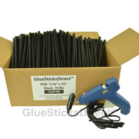 "10 lbs Black PDR 7/16"" x 10"" Glue Sticks & GSDH-270 12Volt 40W HT Glue Gun"