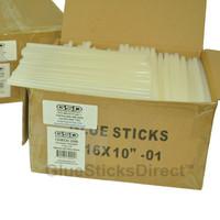 "GlueSticksDirect Economy® Twin Pack Hot Melt Glue Sticks 7/16"" X 10"" 50 lbs Bulk"