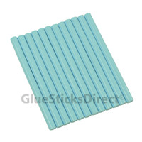 "Baby Blue Colored Glue Sticks Mini X 4"" 12 sticks"