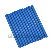 "Royal Blue Colored Glue Sticks Mini X 4"" 12 sticks"