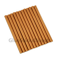 "Copper Metallic Colored Glue Sticks Mini X 4"" 12 sticks"