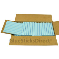 "Baby Blue Colored Glue Sticks 7/16"" X 4"" 5 lbs"