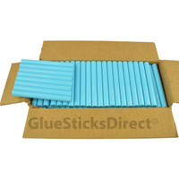 "Turquoise Colored Glue Sticks 7/16"" X 4"" 5 lbs"