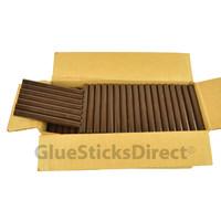 "Brown Milk Chocolate Colored Glue Sticks 7/16"" X 4"" 5 lbs"