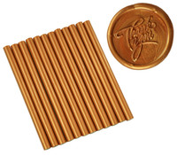 "Copper Metallic Faux Wax Colored Glue Sticks mini X 4"" 12 sticks"