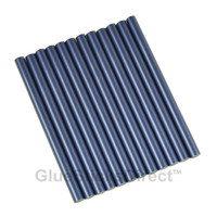 "Blue Metallic Colored Glue Sticks mini X 4"" 12 sticks"