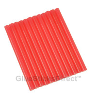 "Translucent Watermelon Colored Glue Sticks mini X 4"" 12 sticks"