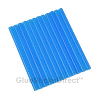 "Translucent Blue Colored Glue Sticks mini X 4"" 12 sticks"
