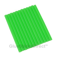 "Translucent Green Colored Glue Sticks mini X 4"" 12 sticks"