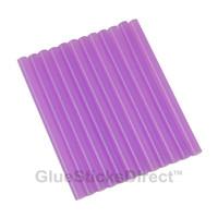 "Translucent Purple Colored Glue Sticks mini X 4"" 24 sticks"